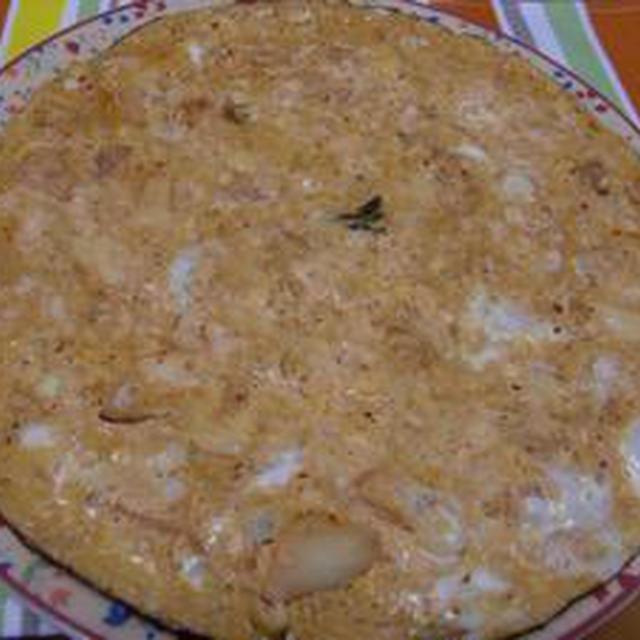 お豆腐と白菜キムチの玉子焼き