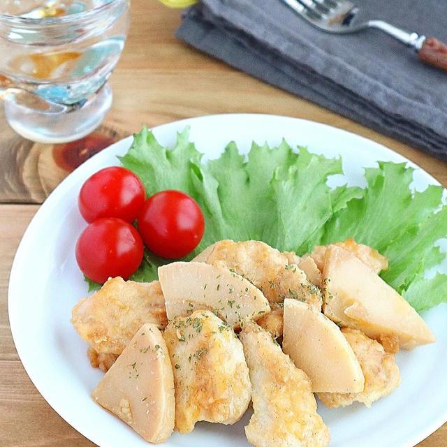 【#鶏むね肉】ごはんがすすむ!鶏むね肉とたけのこのガーリック醤油ソテー