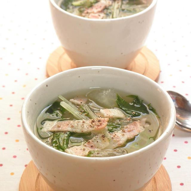 冬瓜とベーコンの優しいスープ☆