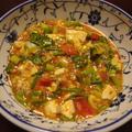 せりとトマトの麻婆豆腐