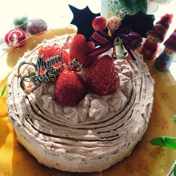 メリークリスマスは切り株風ケーキに♪