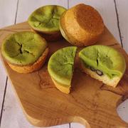 ホットケーキミックスでサクふわ簡単!抹茶と黒豆の「和チーズタルト」