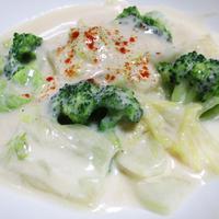 ブロッコリーと白菜のクリーム煮