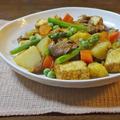 春野菜と牛肉・厚揚げのカレー炒め