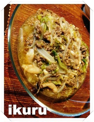 簡単★白菜と豚ひき肉のトロミ炒め