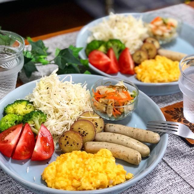 簡単ワンプレート!日曜日の朝食。
