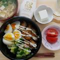 EC限定ピュアセレクトマヨネーズで作るガッツリ系三色丼