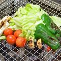 『ニンニク・ピーマン・白ネギ・プチトマト・キャベツ』の炭火焼