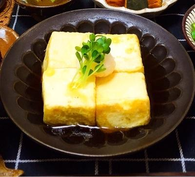 簡単レシピ!揚げない揚げ出し豆腐