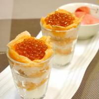 【うちごはん】スモークサーモンとイクラのカップ寿司 /  【参加中】レシピブログ「ミツカンすし酢レシピ」モニター参加中