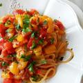 カラフルピーマンのスパゲッティ