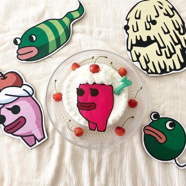 娘7歳の誕生日☆リクエストのケーキ♪