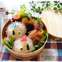 ハートスヌーピーとベルのひな祭り弁当~女子中学生のおべんとう♪