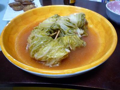 白菜のポン酢ロール