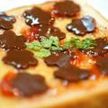 スライス生チョコレート とちおとめショコラとイチゴジャムで朝ごはん☆