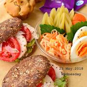 5月25日 金曜日 ライ麦ブレッドサンドイッチ