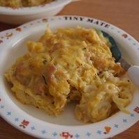 サラダクルルを使って離乳食☆かぼちゃクリームグラタン