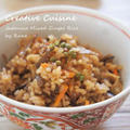 生姜味が決め手❤野菜だけの五目御飯