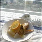 ローストチキンのエスニック風スープ