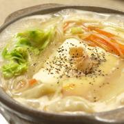 チャンポンスープで中華風鍋