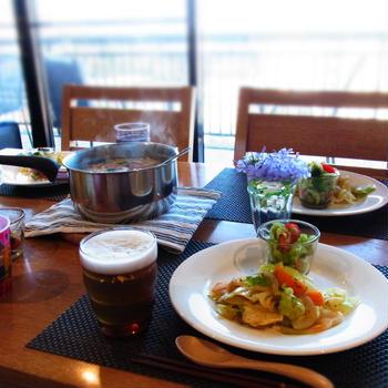 カニカマとセロリの雑炊♪〜おうちご飯☆
