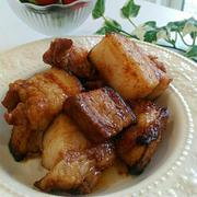 《レシピ有》簡単オーブンまかせ☆豚バラブロックのスタミナ焼き、トランポリンレッスン。