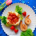 くら寿司が活気的/カタツムリと紫陽花の冷凍トースト