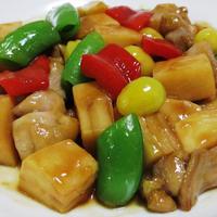 鶏もも肉と筍の中華炒め<照り照り>
