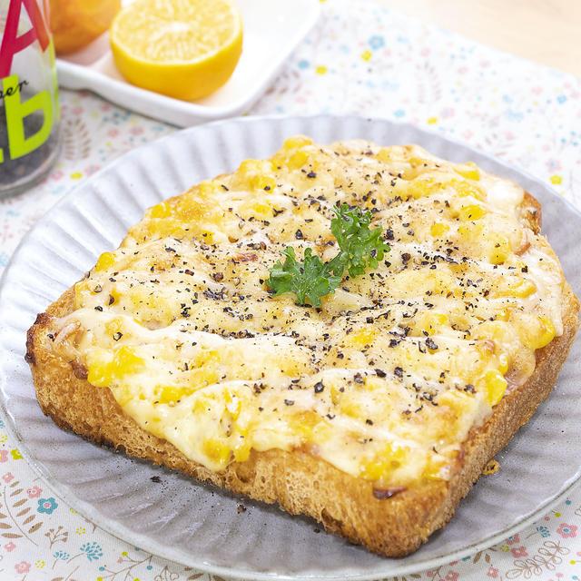 耳までたっぷり( ⸝⸝•ᴗ•⸝⸝ )੭⁾⁾コーンとハムマヨのとろ〜りチーズトースト♡