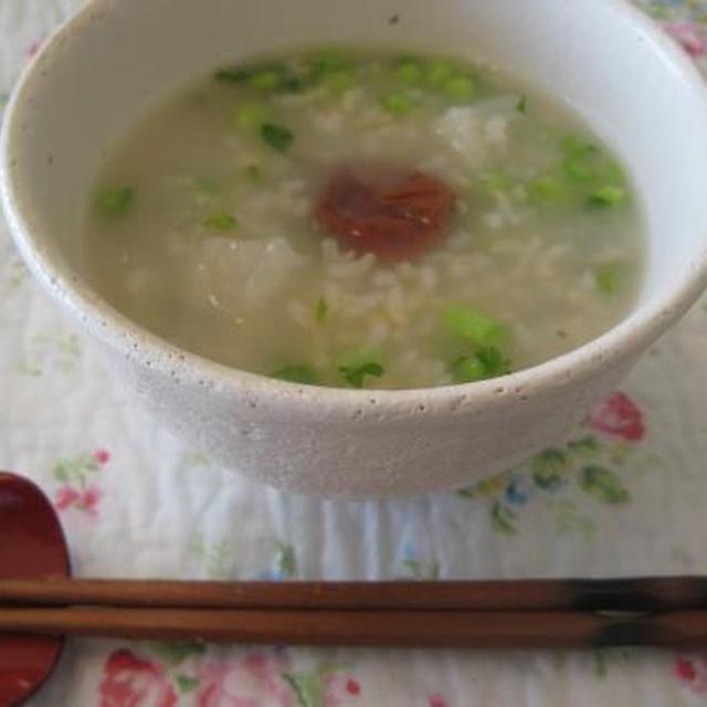 圧力鍋で☆スズシロ(大根)の玄米粥