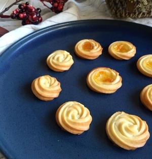 キレイに焼ける♪クリームチーズの絞り出しクッキー*簡単*速攻