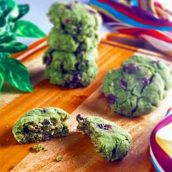 【レンチン3分半☆グルテンフリー】抹茶小豆deしっとり濃厚SOYクッキー