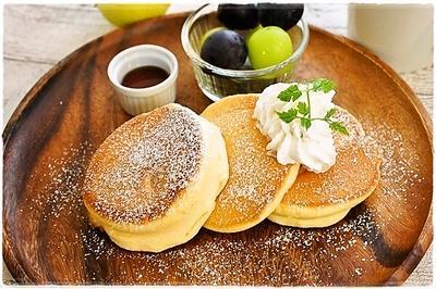 ふわっふわのパンケーキで朝ごはん~幸せのパンケーキ風(レシピ)~