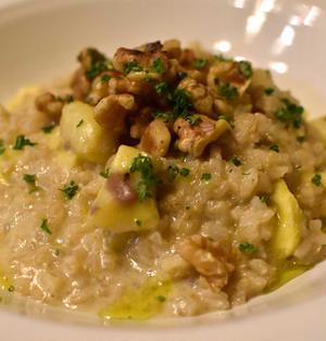 栗とクルミの豆乳玄米リゾット