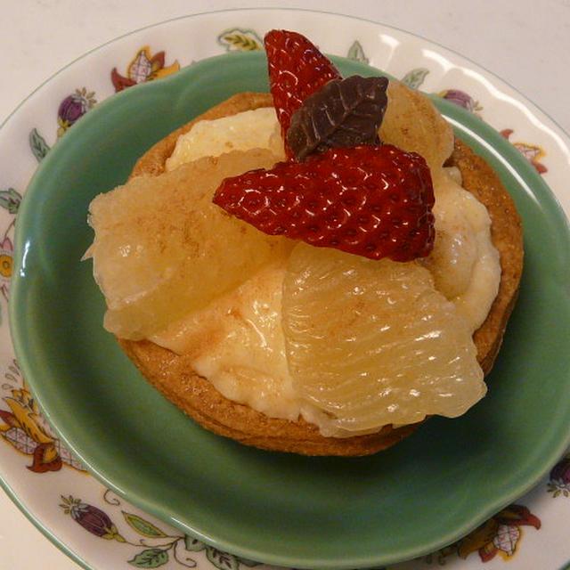 グレープフルーツのカスタードクリームパイ