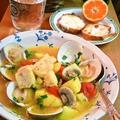 鱈とはまぐりのサフランスープ ~ 野菜もたっぷり♪