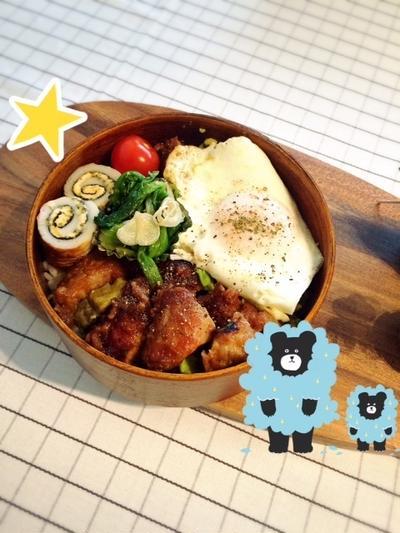 ポークケチャップとアボカド丼弁当☆