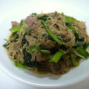 豚肉の小松菜とえのき茸のオイスター炒め♪