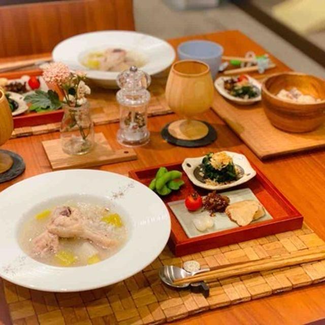 【レシピ・献立】電気圧力鍋で参鶏湯とおつまみごはん