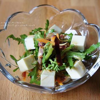 紅蘿蔔豆腐沙拉佐芝麻醬