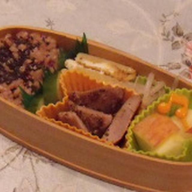 本日のお弁当<玄米発酵ご飯>