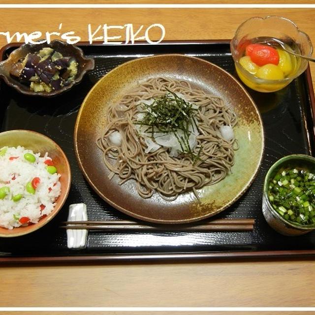 本日の我が家の日替わり定食 ~レシピは枝豆の混ぜご飯と冷たい蒸しナスです~