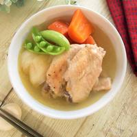 盛りつけが大変なくらい柔らか!手羽先と根菜のトロトロスープ煮
