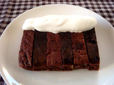 フライパンでチョコケーキ