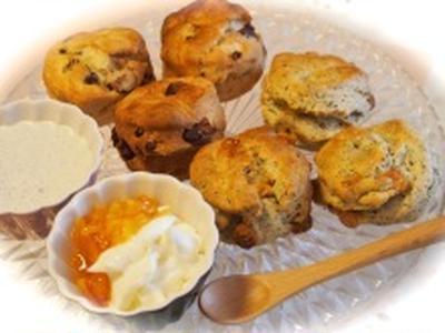 休日の朝に♡アールグレイとホワイトチョコの焼きたてスコーンde朝食♡
