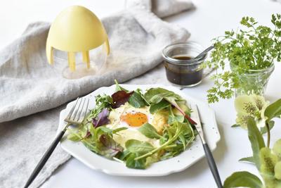 【レシピ】HARIOエッグクッカーでサラダガレット