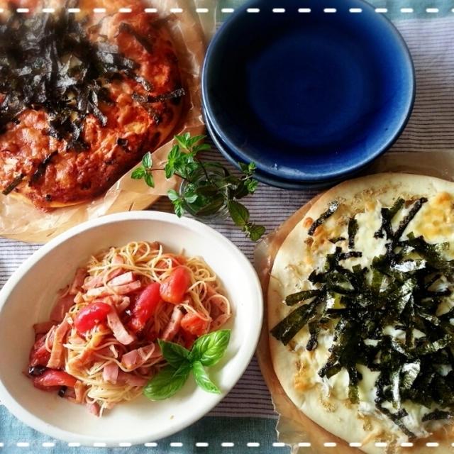 Sundayモーニング♡ピザピザ~♪&パパパパスタ~炭水化物で夏痩せ知らず~( ̄∇ ̄*)ゞ