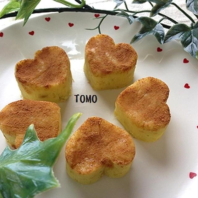 バレンタインに♪シナモン薫る ハートの洋風芋ようかん
