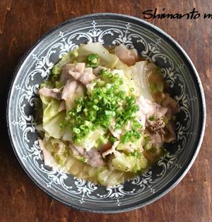 嬬恋高原キャベツと豚バラのバターポン酢レンジ蒸し