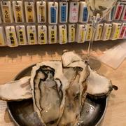 梅田はしご酒、すしまるさんで牡蠣で一献